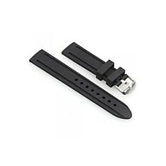 Men Women 20mm Black Silicone Watch Band Strap Bracelet Fashion