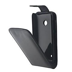 For Nokia etui Flip Etui Heldækkende Etui Helfarve Hårdt Kunstlæder for Nokia Nokia Lumia 530