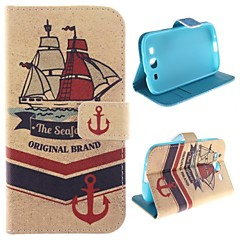 Ship Design PU Leather Full Body Protective Case with Stand for Samsung Galaxy S3 I9300
