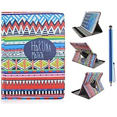 Tribal Carpet Pattern PU Leather Full Body Case with Stand and Capacitance Pen for iPad Mini 1/2/3