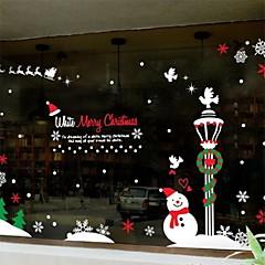 Décoration de Noël bonhomme de neige fenêtre PVC autocollants