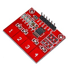 Keyes-ttp224 cyfrowy 4-kanałowy moduł dotykowy pojemnościowy czujnik sterowania - czerwone