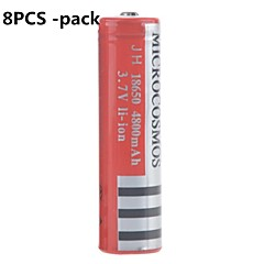 microcosmos 4800mAh 18650 bateria de iões de lítio recarregável (8pcs)