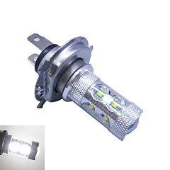 H4 CREE LEDx12 60W  6500K -7000K  White Light LED Bulb for Car (12-24V,1pc)