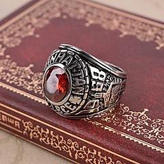 Pierścionki,Stal sztuczna Ruby Kamienie zodiakalne Biżuteria Duże pierścionki