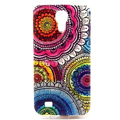 Sun Flower Pattern TPU Soft Case for S4 I9500
