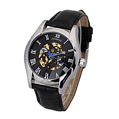 Men's Double-Sided Hollow Out  Leather Series Mechanical Automatic Wrist Watch(Assorted Colors)