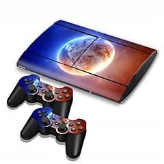 PS3 Slim 4000-console beschermende sticker huid van de dekking controller skin sticker!