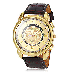 Masculino Relógio Elegante Quartz PU Banda Marrom marca-