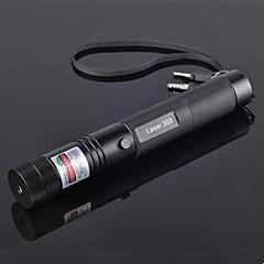 jd303 høj effekt grøn stråle justerbar laser pointers pen (5mW, 532nm, 1x18650 batteri + oplader) sort