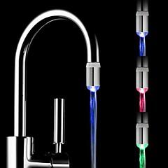 rc-f05 de mini sensor de temperatura de la corriente de agua con estilo luminoso luz del grifo de luz LED (de plástico, acabado en cromo)
