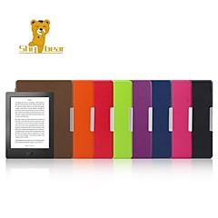 cubierta de cuero caso tímido cáscara dura oso ™ 6.8 pulgadas para kobo aura h2o ebook color clasificado