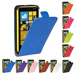 Voor Nokia hoesje Flip hoesje Volledige behuizing hoesje Effen kleur Hard PU-leer Nokia Nokia Lumia 620