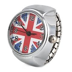 לנשים שעוני אופנה שעון טבעת קווארץ סגסוגת להקה וינטאג' כסף