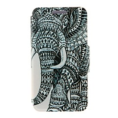 Kinston Right Side Of the Elephant Pattern PU Leather Full Body Case with Stand for iPhone 4/4S