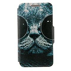 Για Θήκη Nokia Θήκη καρτών / Ανοιγόμενη tok Πλήρης κάλυψη tok Γάτα Σκληρή Συνθετικό δέρμα Nokia Nokia Lumia 630 / Nokia Lumia 625