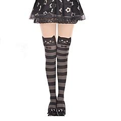 Black Stripe Cat Sweet Lolita Pantyhose Stockings