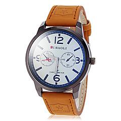 reloj de color caqui de estilo militar pu banda de cuarzo de los hombres (colores surtidos)