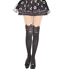 Cute Frog Black Sweet Lolita Pantyhose Stockings