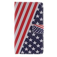 För LG-fodral Korthållare / Plånbok / med stativ / Lucka fodral Heltäckande fodral Flagga Hårt PU-läder LG LG G3