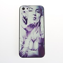 Woman Pattern Hard Plastic Back Cover for iPhone 5/5S