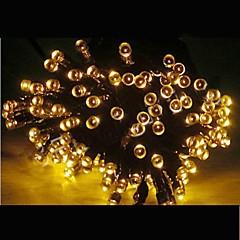21m solaire alimenté couleurs 200 conduit Xmas Party de fées en plein air intérieur Lumière de chaîne lampe noël -jaune