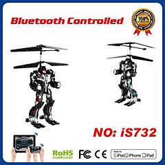 i-kontroll rc 2.5ch robot helikopter med gyro for iphone, ipad og android