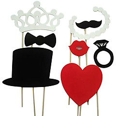 8 Piece Card Paper Photo Booth Props/Party Fun Favor Wedding