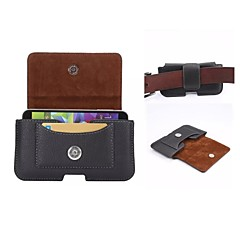 Universal Leather Pouch Belt Clip Case Holster with Card Slot for Samsung Galaxy Note 4 3 2