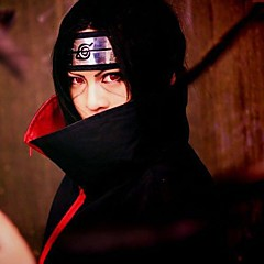 Black Cosplay Wig Inspired by Naruto Uchiha Itachi
