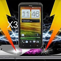 protector de pantalla de absorción de impactos definitiva para el htc uno x (3pcs)