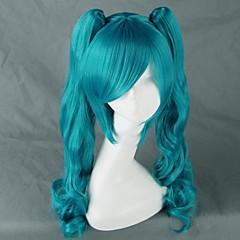 Szerepjáték Parókák Vocaloid Hatsune Miku Kék Közepes Anime/Videójátékok Szerepjáték parókák 75 CM Hőálló rost Nő