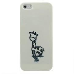 étui rigide motif de girafe peinte à la main pour iPhone 5 / 5S