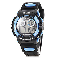 Children's LCD Digital Silicone Band Sport Watch (Assorted Colors) Cool Watches Unique Watches