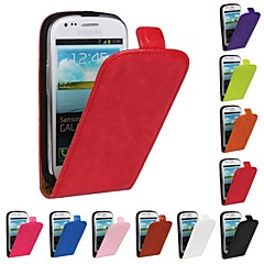 Flip-Open Horse Grain PU Leather Full Body Case for Samsung Galaxy S3 Mini I8190  (Assorted Colors)