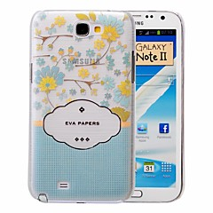 Fresh Flowers Pattern PC Brushed Case for Samsung Galaxy Note 2 N7100