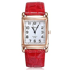 Women's Rectangle Dial Dress Quartz Watches PU Leather Strap Leisure Wristwatches (Assorted Colors) Cool Watches Unique Watches Fashion Watch