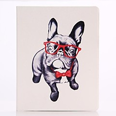 Glasses Dog Pattern PU Leather Full Body Case for iPad 2/3/4