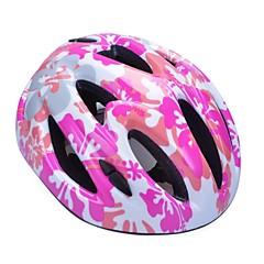 moda comoda sicurezza + eps integralmente-stampato casco in bicicletta 11 sfiati bambini - rosa + silver