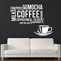 jiubai® koffie citaat muursticker muurstickers,