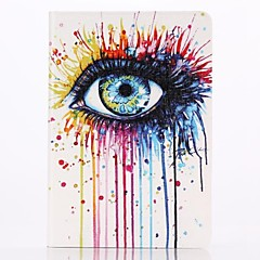 Color Eyes Pattern PU Leather Full Body Case with Stand  for iPad Mini 1/2/3