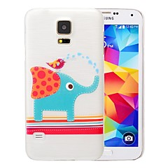 Elephant and Bird Pattern PC Brushed Case for Samsung Galaxy S5 I9600