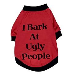 Gatos / Perros Camiseta Rojo Ropa para Perro Primavera/Otoño Letra y Número
