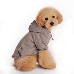 mascota cachorro de perro caliente ropa de abrigo de invierno con capucha gris otoño suéter para mascotas perro