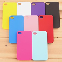 Pajiatu Mobile Phone Hard PC Back Cover Case Shell for Apple iPhone 4/4S (Assorted Colors)