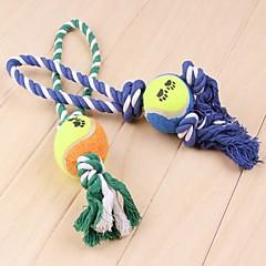 Hundar Husdjursleksaker Tuggleksaker / Interaktivt Rep Slumpmässig färg Tyg
