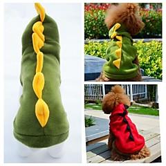 Gatos / Perros Disfraces / Saco y Capucha / Accesorios Rojo / Verde Ropa para Perro Invierno / Primavera/Otoño AnimalBoda / Cosplay /