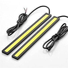 2pcs 17cm 6W 600-700LM Daytime Running light Yellow Color High Power COB DRL Waterproof IP68 Daylight(12V)