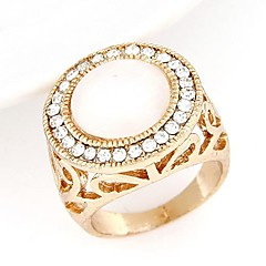 Fashion Sweet Temperament Flash Diamond Opal Ring