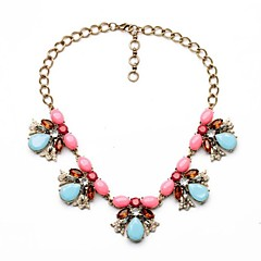 Sweet Style Candy Color Resin Copper Plated Necklaces (1 Pc)